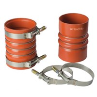4.0 ID x 6IN CAC Hose/Clamp Kit Red