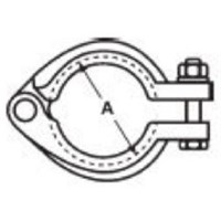 "1"" - 1-1/2"" I-Line Bolted Clamp 304"